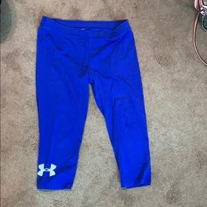 Under armor cropped yoga pants